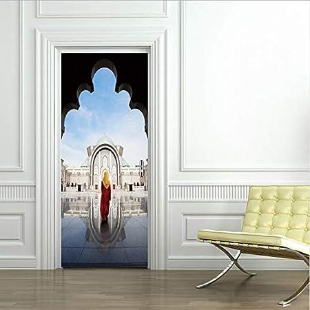 Autocollant De Porte Beau Style De Thai Style Architecture