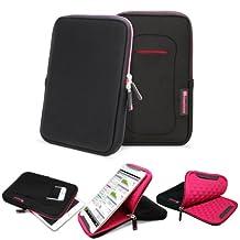 GreatShield VIES [Shockproof | KickStand] Neoprene Sleeve Case for 7 to 8-inch Tablets - Fits Apple iPad Mini, Galaxy Tab 7, Nexus 7, LG, Asus Tablet (Pink)