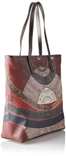 GATTINONI Gplb002 - Shoppers y bolsos de hombro Mujer Gris (Tibetan)