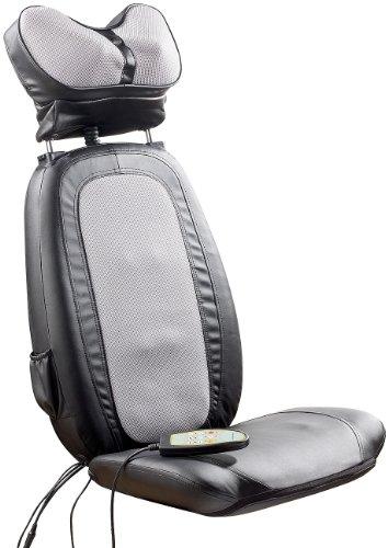 newgen medicals Shiatsu-Sitzauflage MA-600, Nackenmassage, Tiefenwärme