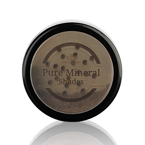 Root Concealer Touch Up Powder | All-Natural Crushed Minerals With Brush | Fast and Easy Total Gray Hair Cover up For Black | Brown | Auburn and Blonde Hair .32 ounce (Dark Brown)
