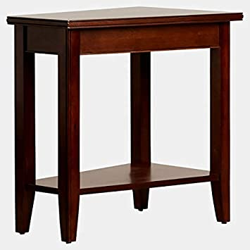 Amazon Com Wood End Table With Beaded Edge Details Wedge Shaped