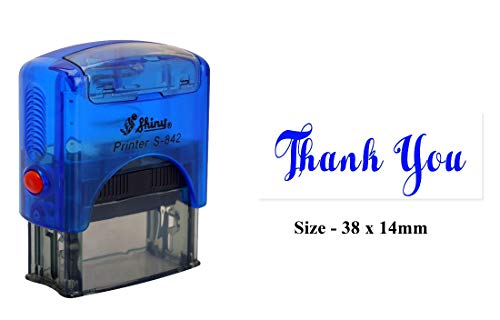 PrintValue Thank You Printed Self Inking Rubber Stamp - Shiny ()