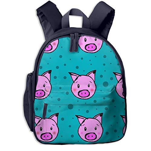 (Pigs And Polka Dots 12 Inch Kids Backpack For Toddler Boys Girl Toddler Bookbag)
