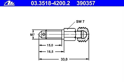 ATE 03351842002 Vá lvula de purga Continental AG 03.3518-4200.2
