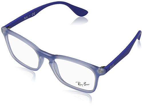 Ray-Ban RY1553 3668 Rubber Electric Blue Childrens Eyeglasses - Pictures Ban Ray