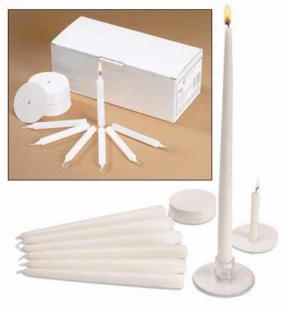 Candlelight Service Kit with Congregational, Pastor and Usher Candles, Box of 120
