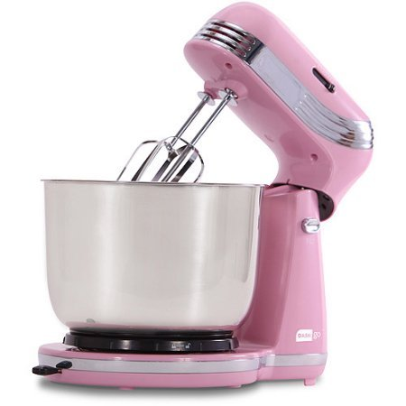 Dash Go Everyday Mixer 6 preset speeds make it easy to get uniform, even results Actual Color: PASTEL PINK
