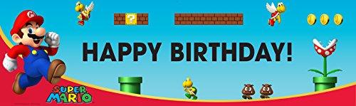 Super Mario Bros Party Supplies - Vinyl Birthday