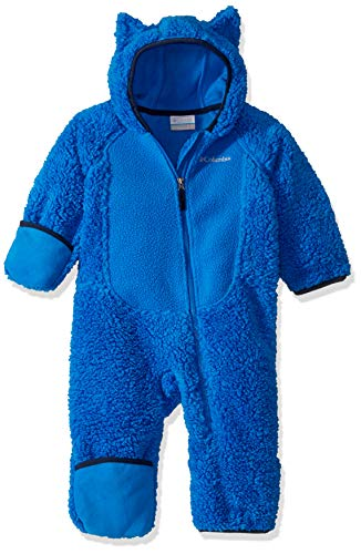Columbia Foxy Baby Sherpa Bunting, Super Blue/Collegiate Navy, 3/6