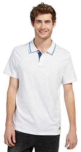 TOM TAILOR Polohemd Poloshirt Polo 1531084 0010 2000 weiss S17-TTPO1