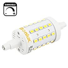 Bonlux R7S LED Dimmable 78mm Daylight 6000k, 120V J Type Double Ended Tungsten Halogen Bulb 50W Replacement J78 LED