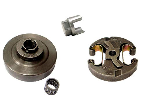 SPERTEK Clutch + Sprocket Drum 3/8 7T + Removal Tool for Husqvarna 455, 455 Rancher, 460, 460 Rancher