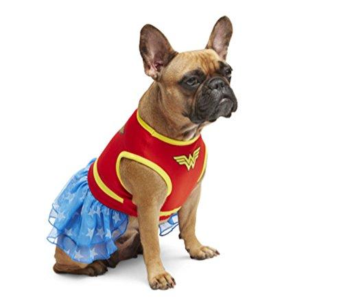 DC Comics Wonder Woman Dog Pet Dress Costume (Small) by Pet Halloween (Wonder Woman Dog Costume)