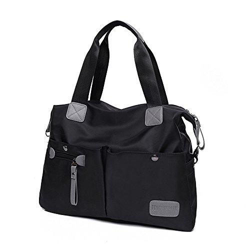 Oxford Waterproof Capacity Shoulder Span Large Black Single Cloth Package Slant rqRwxv5rHt