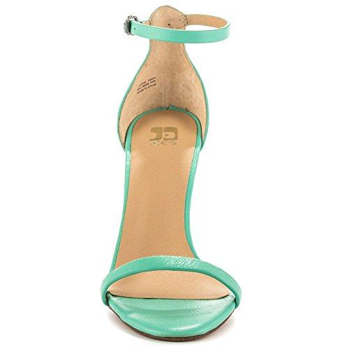 Joes Jeans Kvinna Import Klänning Sandal Havsskum Grönt Läder