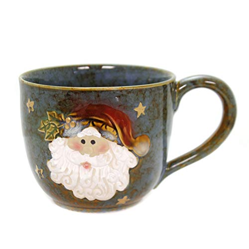 Large Santa Clause 30 Oz Christmas Soup Mug for Holiday Dining