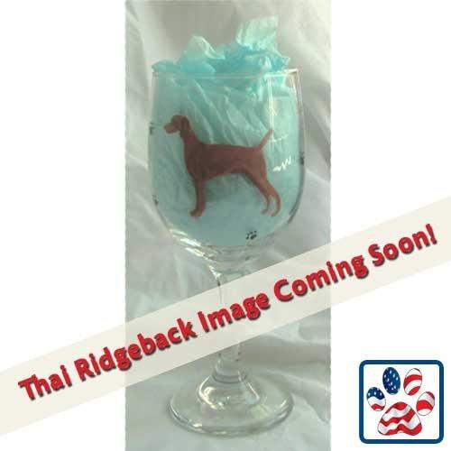 Showstopper Jewelry Standing Dog Wine Glass Thai Ridgeback by Showstopper Jewelry