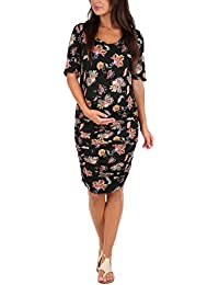 Women's Maternity Ruched Dress by Mother Bee in regular...