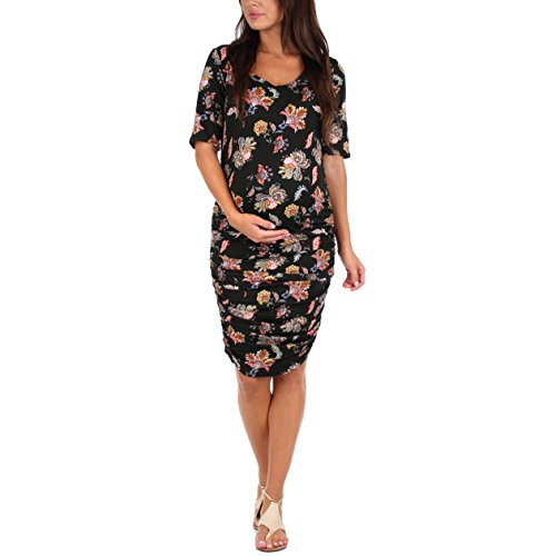 Women's Maternity Ruched Dress - Made in USA ()