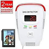 Natural Gas Detector / Propane / Methane ,Leak Sensor Detector with Voice Warning and Digital Display