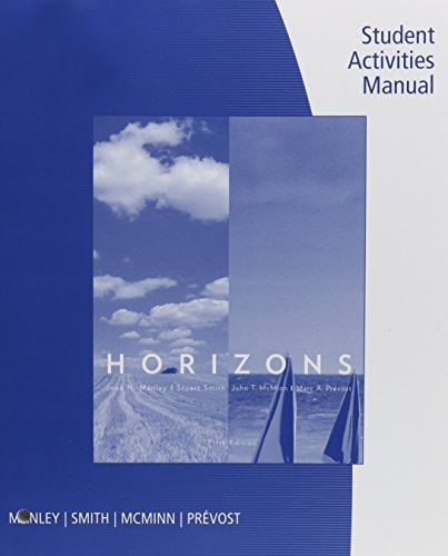 (Bundle: Cengage Advantage: Horizons, 5th + SAM Answer Key with Audio Script + Student Activities Manual + Premium Web Site Printed Access Card)