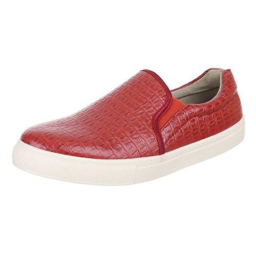 Ital-Design - Mocasines Hombre Rojo - rojo