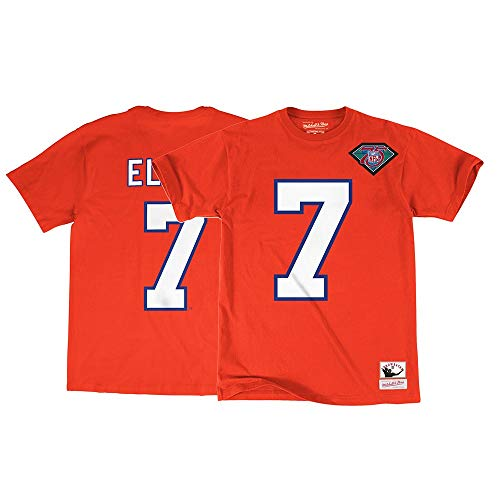 Mitchell & Ness John Elway Denver Broncos Men's Name & Number Orange T-Shirt