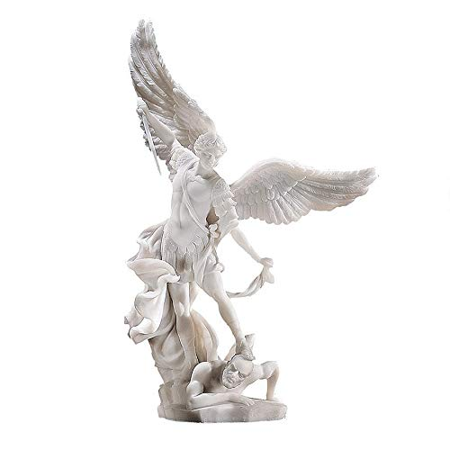 Design Toscano Bonded Marble St. Michael the Archangel Angel Statue (WU71543) (Small St Michael Archangel Statue)
