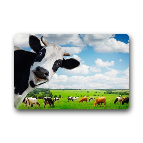 Funny Cow Animal Dairy Cattle Farm Doormats Entrance Mat