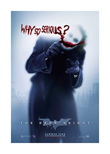 The Joker (Christian Bale, Heath Ledger, 2008) The Dark Knight Movie Poster - Size 24