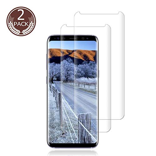 [2 Pack] Galaxy S9 Screen Protector 9H Hardness/Anti-Scratch/Anti-fingerprint/3D Curved/High Definition/Ultra Clear Tempered BBInfinite Glass Screen Protector Compatible Samsung Galaxy S9 ()