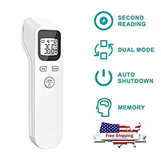 Thermometer, No Touch Accurate Fast Readings, Infrared Thermometers with LCD Display, Ideal for Babies, Infants, Children, Adults, Indoor, and Outdoor Use