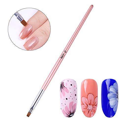 BONNIESTORE 8 Pcs Nail Brush Pen Gradient Acrylic Painting Brush Set UV Gel Flower Drawing Pen Purple Handle Manicure Nail Art Polish Pen Tool