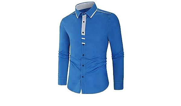 YIHANK - Camiseta de Manga Larga para Hombre Azul XXX-Large ...
