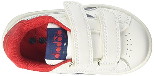 Diadora Game P I, Zapatillas para Niños Blanco (Wht/estate Blue/poinsettia)