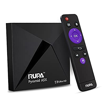 RUPA Ryramid A5X Android 6.0 TV Box Amlogic S905X Quad Core 2G 8G EMMC 4K Marshmallow Wifi BT 3G 1080p Streaming Media Player With OTA Upgrade System Unlocked