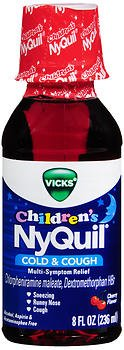 Vicks NyQuil Children's Cold & Cough Liquid Cherry Flavor - 8oz, Pack of (Childrens Nyquil)