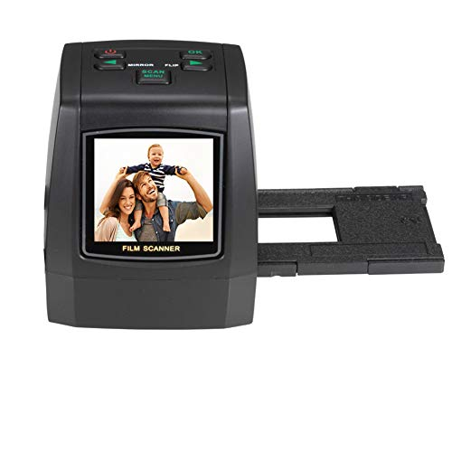 All-in-1 Film&Slide Scanner w/Speed-Load Adapters for 35mm Negative & Slides, 110, 126, Super 8 Films 14/22 Megapixel Images-2.4inch LCD -Support SD Card Up to 32GB(not Included)-with USA Plug
