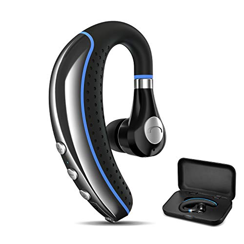 Bluetooth Headset, FimiTech Wireless Earpiece V4.1 Ultralight Hands Free Business Earphone with Mic for Business/Office/Driving