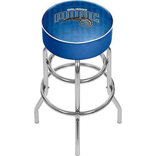 Trademark Gameroom NBA1000-OM3 NBA Padded Swivel bar Stool - City - Orlando Magic (City Furniture Orlando)