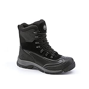 kingshow Men's 1586-2 Waterproof Black Cold Weather Boot 9 D(M) US