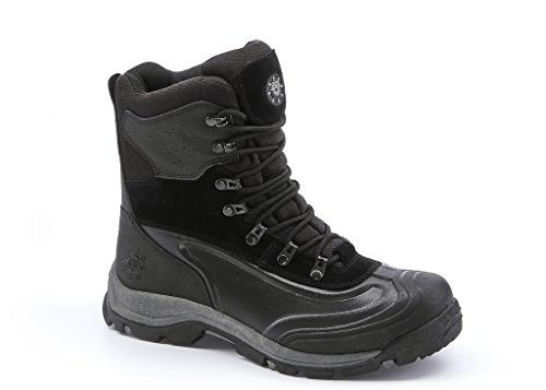 KINGSHOW Men's 1586-2 Waterproof Black Cold Weather Boot 10.5 D(M) US