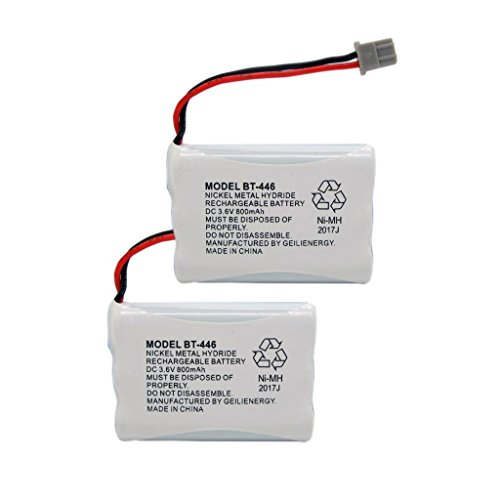 (GEILIENERGY BT446 BT-446 BBTY0503001 BT-1004 BT-1005 GE-TL26402 BT-504 CPH-488B 3.6V 800mAh Rechargeable Battery Compatible with Uniden Cordless Phone(Pack of 2) )