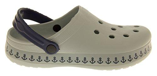 Beach Pool 6 Slip 11 Clogs On Sandals Shoe 9 10 Size Summer 8 Grey Mens 7 Bpxqaq