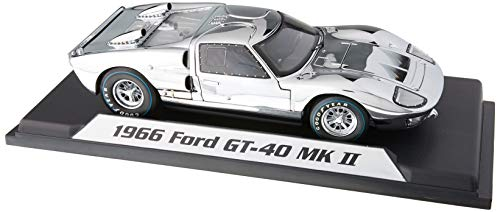 - Shelby Collectibles SC413 1966 Ford GT40 Chrome Edition Limited to 500 Piece Worldwide 1-18 Diecast Car Model