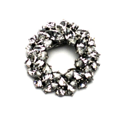 PILGRIM 281-005 Brosche, versilbert, kristall