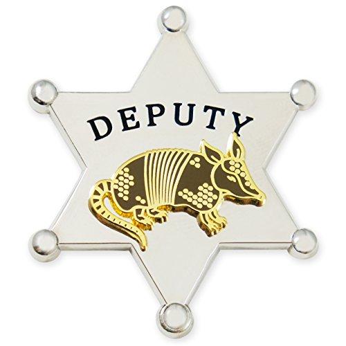 (Dorrarium Deputy Armadillo Lapel Pin | Sheriff R. Madillo | Double Layered Hard Enamel (Nickel) )