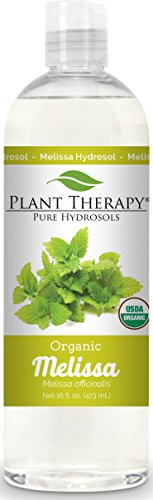 Plant Therapy Melissa Organic Hydrosol 16 oz (Flower Water) By-Product of Essential Oils