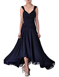 Adorona Mother of the Bride Groom Dress Tea Length Formal Chiffon Special Occasion Bridesmaid